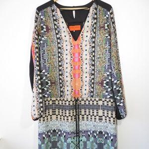 Clover Canyon Geometric Drop Waist Shift Dress